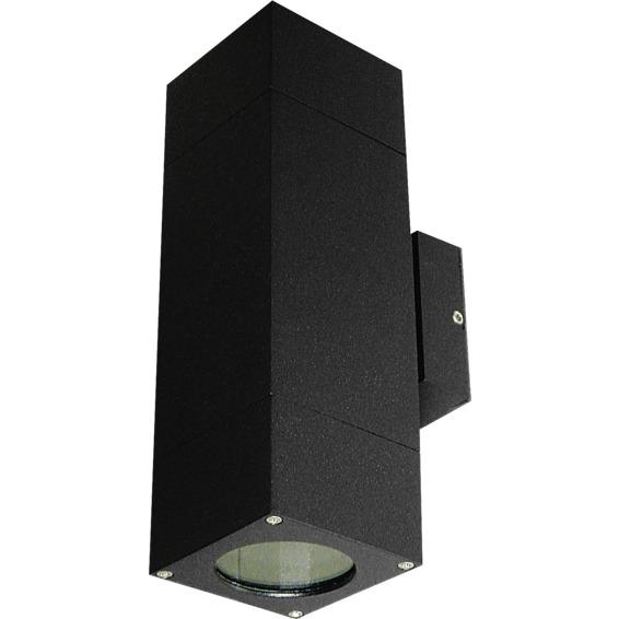 Utelampe Veggspot Atrix Dobbel Svart 2x3W LED GU10 IP44