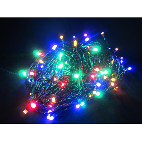 Batteri juleslynge 240 fargede lys LED 25m m/timer