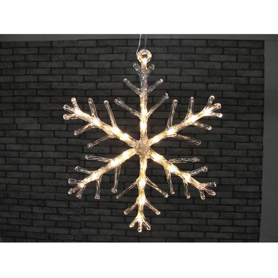 Snøkrystall 40cm 24 varmhvite lys LED IP44