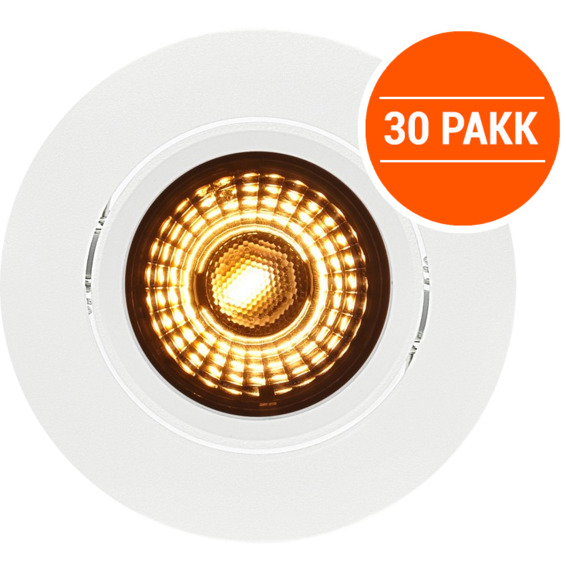 Alfa LED Warmdim 10W Matt Hvit IP44 30PK