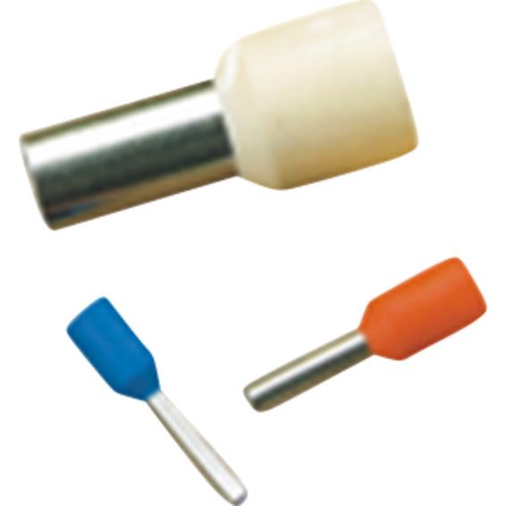 Isolert endehylse 2,5mm� 10-Stk