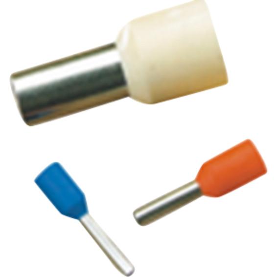 Isolert endehylse 10mm² Lengde 18mm 10-Stk