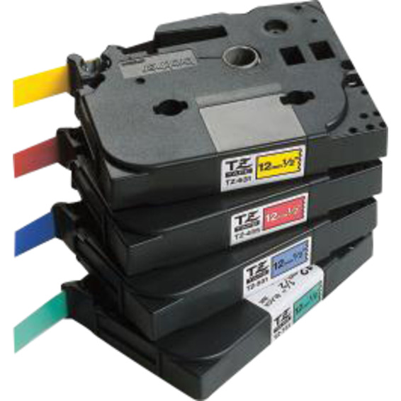 Merketape Brother TZe-211 6mm Sort p� hvit 8 m