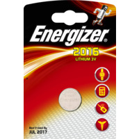 Batteri CR2016 Lithium 3V 80mAh ENERGIZER �20x1,6mm