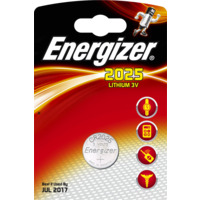 Batteri CR2025 Lithium 3V 170mAh ENERGIZER �20x2,5mm
