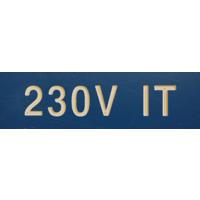 MERKESKILT 230V IT 25X80MM (BLÅ) CV020220