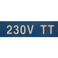 MERKESKILT 230V TT 25X80MM (BLÅ) CV020237