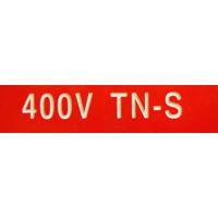 MERKESKILT 400V TN-S 25X80MM (RØD)