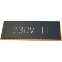 Merkeskilt Selvklebende 230V IT Bl�