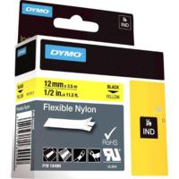 Dymo Rhino 12mm Nylon sort på gul