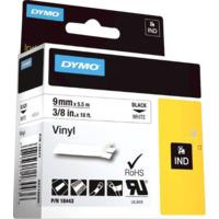 Dymo Rhino 9mm Vinyl sort på hvit