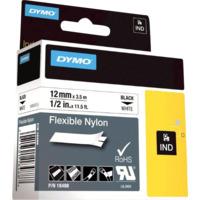 Dymo Rhino 12mm Nylon sort på hvit