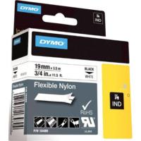 Dymo Rhino 19mm Nylon sort på hvit