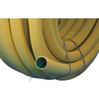 Kabelrør DVR 110mm gul med trekketråd 50m