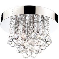 Dina Moderne taklampe stål/krystall