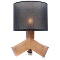 Hilda bordlampe i Ask, Sort lampeskjerm