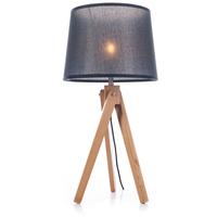 Svanhild bordlampe i Ask, Sort lampeskjerm