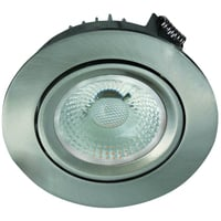 Artic COB Star Downlight 8W Børstet Stål IP44