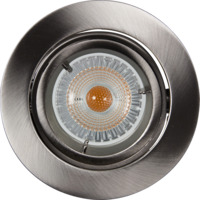 Artos LED Downlight 240V 6,5W GU10 B�rstet St�l IP23