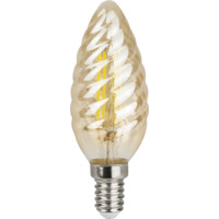 LED Krystall Mignon Amber Dim 4W E14