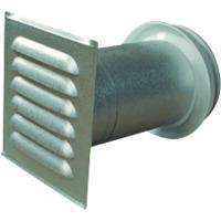 Veggventil Med Sjalusirist Aluz �125 220-400mm