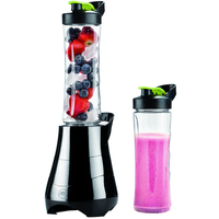 Blender Smoothie Twister, 2 x 600 ml, 300 W, svart