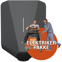 Ferdig montert elbillader - Easee 32A 230V Antracit