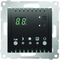 Simon Multi termostat 2 pol 10A Antracit (max 2300w)