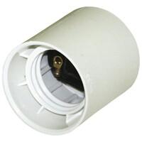 LAMPEHOLDER E27 HVIT U/RINGER