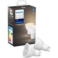 Philips Hue W GU10 Lyskilde 6W 2pk