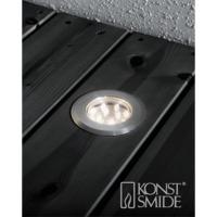 Terrassespot LED mini 3stk/set varmhvit ink trans.