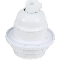 Lampeholder m/ring E27 hvit