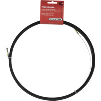 Trekkefj�r St�l 30m med s�kerspiral. Oval, 3mm bredde