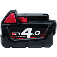 Milwaukee Batteri M18 B4. 18 V. 4,0 Ah Red Lithium Ion