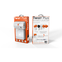 TWIST Plus + Universal reiseadapter med 2,4A USB