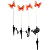 Hagelykt Assisi Solcelle LED Sommerfugler 4stk/Sett 69cm