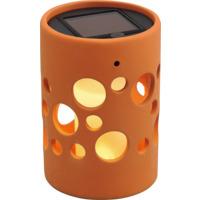 Hagelykt Genova Sylinder Solcelle LED Terrakotta 14cm