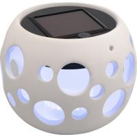 Hagelykt Genova Rund Solcelle LED Hvit 10cm