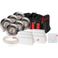 Komplett PrismaCOB LED Downlightspakke B�rstet St�l