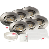 Komplett Artic COB LED Downlightspakke B�rstet St�l