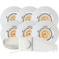 Komplett Altea Tilt LED Downlightpakke Matt Hvit 6 pk
