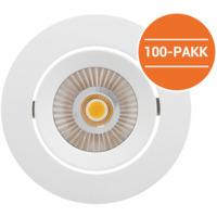 Alfa reflektor LED 10W matt hvit IP44 100PK