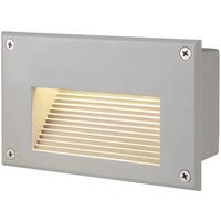 SLV Brick Downunder Innfelt Vegglampe 3000K IP54 Grå