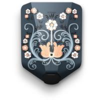 Dekorfolie Rosemalt motiv til Easee lader