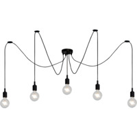 FIX MULTIPLE Pendant 5xE27/60W Black