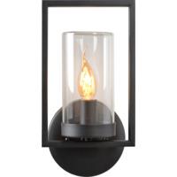 Lucide Nispen Utendørs Vegglampe IP44 E14 Sort