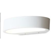 Ovali vegglampe LED - Hvit