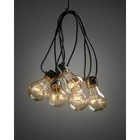 Lysslynge 5 LED med timer - amber