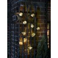 Lysslynge 10 klare lamper med micro LED - Amber
